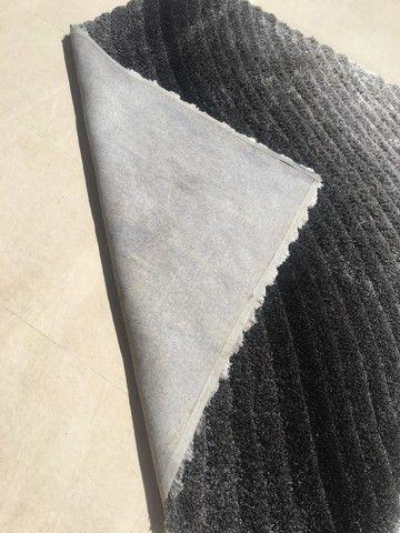 Tapete degradê prata/ cinza e preto 2,00 x 2,50 - Foto 3