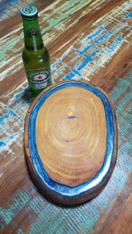 Tábua de churrasco  em madeira ótimo presente  - Foto 4
