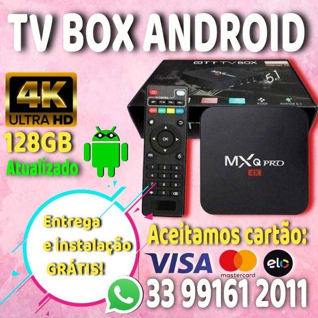 TV box android  + Brinde 1 mês Todos liberado