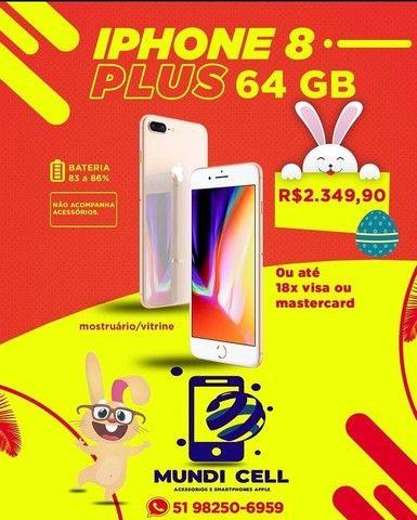 MUNDICELL VITRINE IPHONE 8 PLUS 64GB ANATEL DESBLOQUEADO