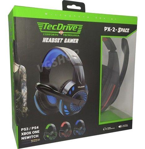 Fone gamer headset gamer fone com microfone para pc xbox e ps4
