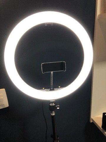Ring light 30 cm com tripe 2,1 metros (Novo) - Foto 2