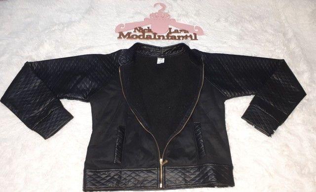 Jaquetas juvenil peluciada por dentro feminina  - Foto 2