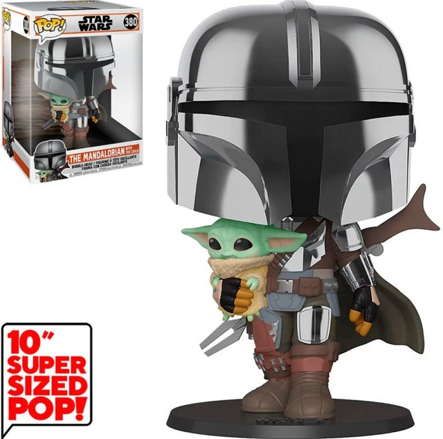 Funko Pop: Star Wars Mandalorian With The Child Super Sized 10? #380