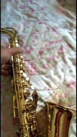 SAX saxofone Windsor revisado,  lindo impecável  - Foto 3