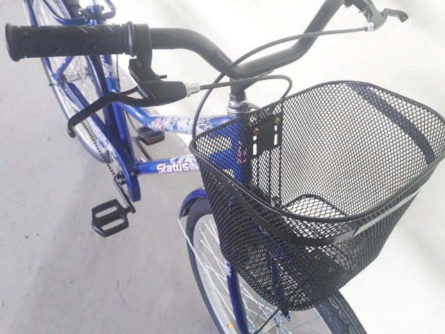 Bicicleta feminina aro 26 azul nova - Foto 3