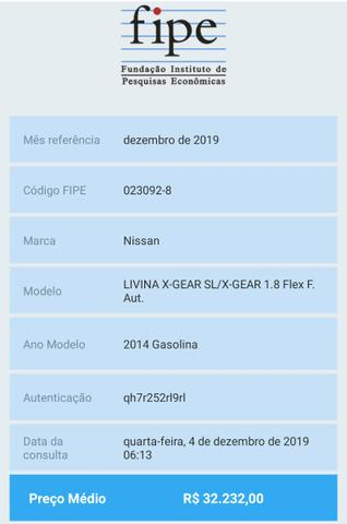 NISSAN Livina XGear 1.8 Aut. Flex 14/14 TOP! - Foto 17