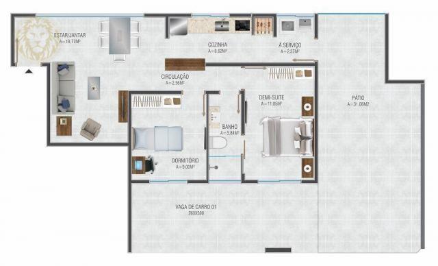 Apartamento com 1 dormitório à venda, 59 m² por R$ 275.000 - Ribeirão da Ilha - Florianópo - Foto 3