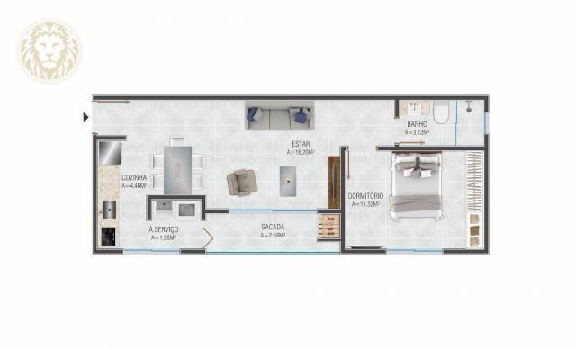 Apartamento com 1 dormitório à venda, 59 m² por R$ 275.000 - Ribeirão da Ilha - Florianópo - Foto 4