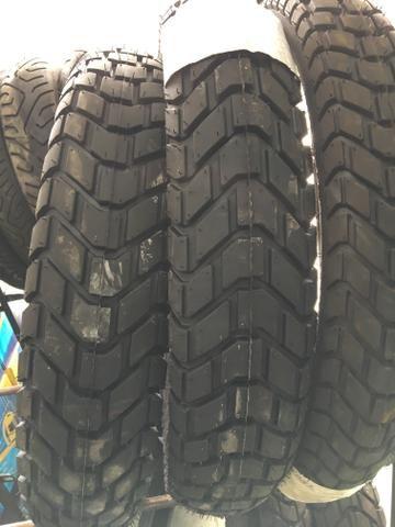 pneu dianteiro para motos xre lander 120/80-18 technic entrega todo rio - Foto 3