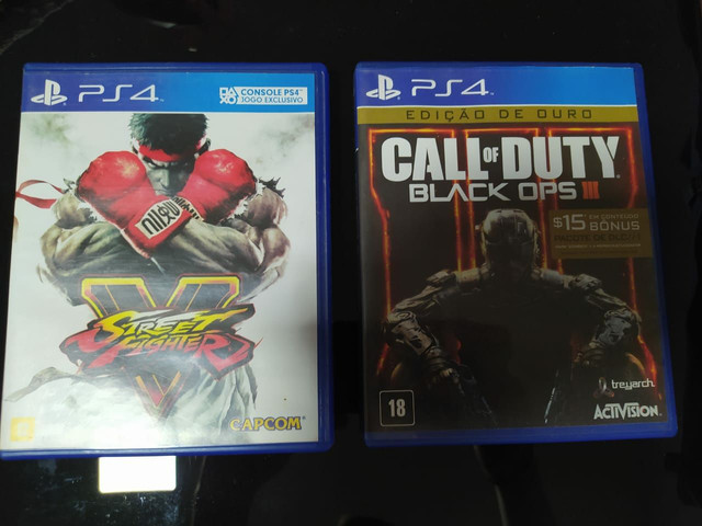 Jogos Street Fighter 5 + Call of Duty Black Ops 3
