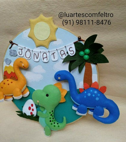 Bastidor decorado Dinossauro  - Foto 3