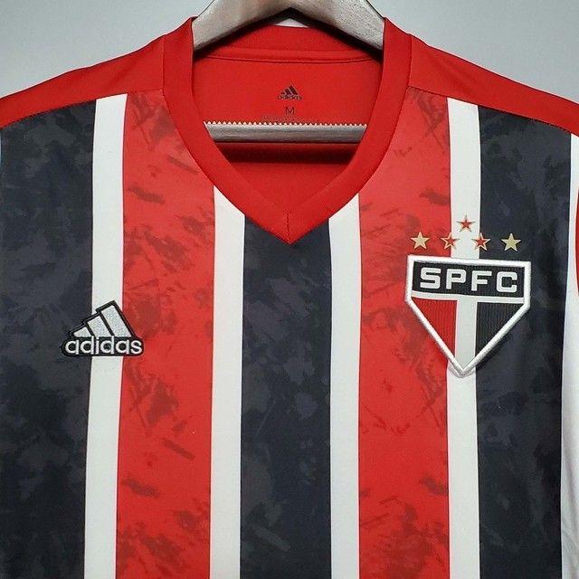 São Paulo Uniforme II + Patch Brasileirão 2020 - Temporada 20/21 - Foto 4