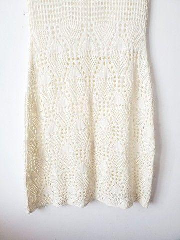 Conjunto Saia Longa e Croped de Crochê - Foto 5