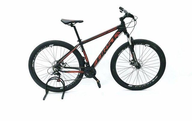Bicicleta aro 29 first, com cambios Shimano tourney, first mais barata do brasil - Foto 2