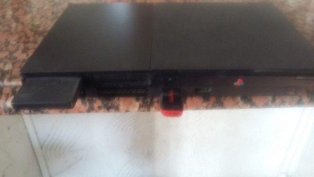 Play Station 2 Slim - PS2 com destravado - Foto 2