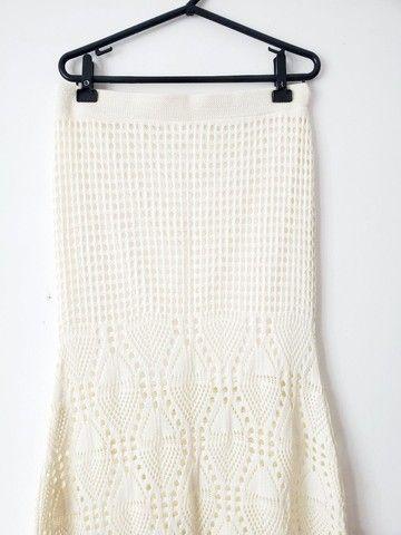 Conjunto Saia Longa e Croped de Crochê - Foto 3