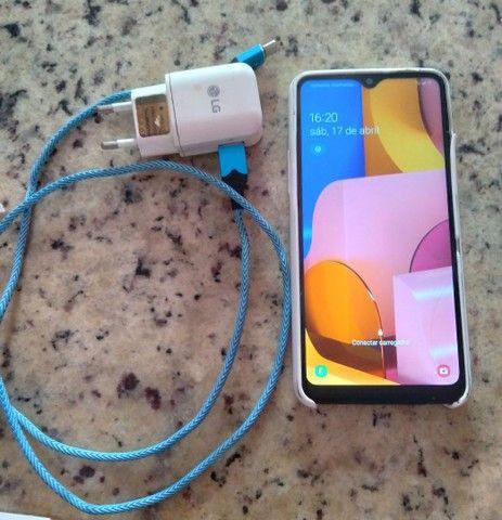 Lindo Samsung Galaxy A20s com carregador faço entrega aceito cartão  - Foto 2