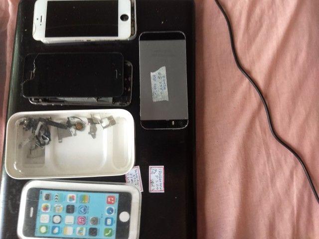 iPhone 5c e 5s peças placas display - Foto 2
