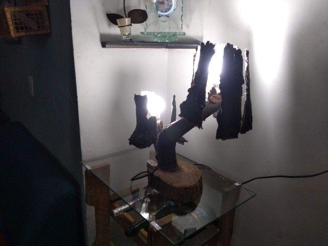 Abajur artesanal rústico - Foto 2