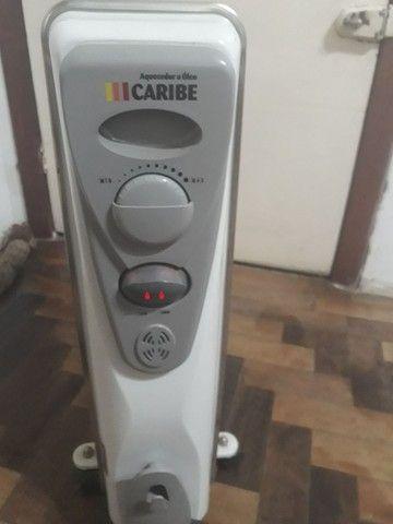 Aquecedor a óleo 110v 750w 1500w Caribe sem uso BARBADA Liberando espaço corre!  - Foto 4