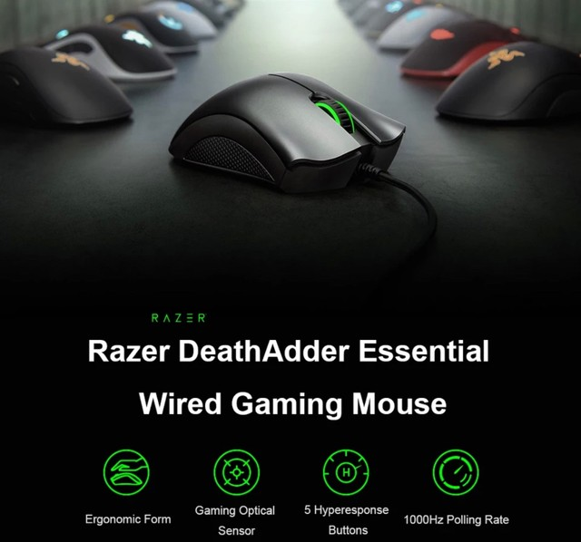 Mouse Razer Deathadder Essential - Novo e Lacrado - Foto 3