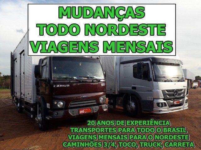 Mudanca compartilhada Maranhao, Piaui, Ceara, Paraiba / Todo o nordeste
