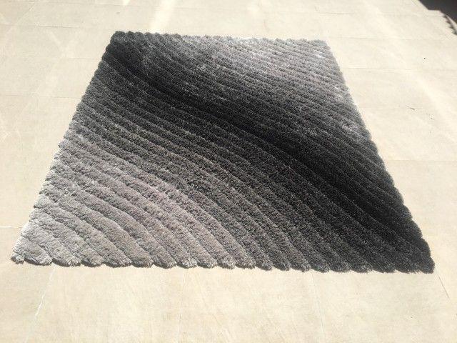 Tapete degradê prata/ cinza e preto 2,00 x 2,50 - Foto 2