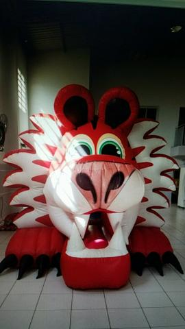 Tigre inflavel kid play