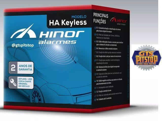 Alarme Automotivo HA Keyless Hinor Funções na Chave Original do Veiculo 71045