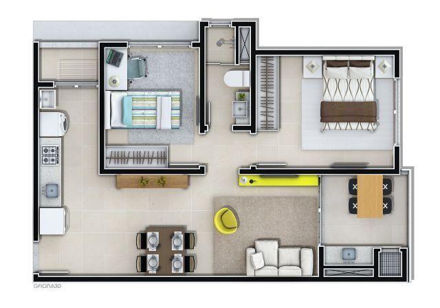Apartamento Residencial Montserrat 2 quartos
