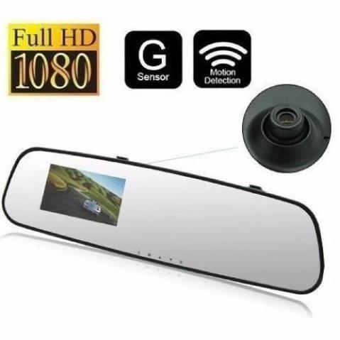 Retrovisor Camera Filmadora Espia Veicular Hd Dvr Monitor