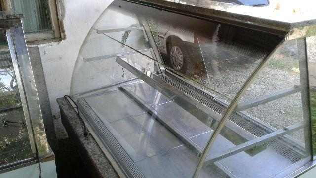 Vitrine refrigerada e aquecida para lancheria