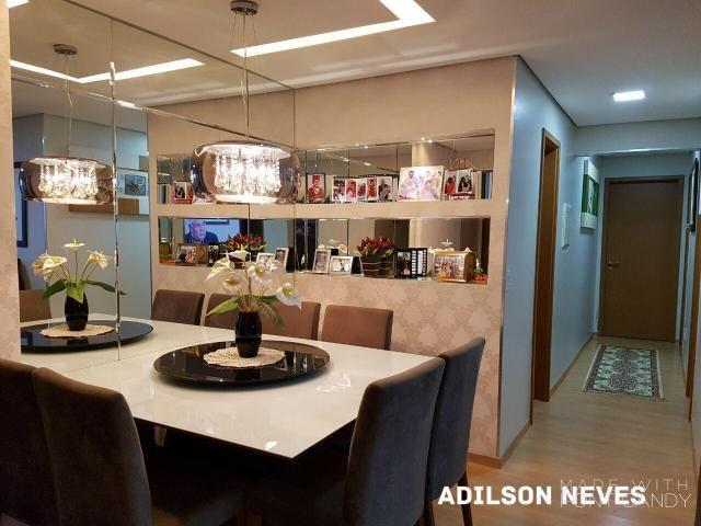 Res. Allegro 3 quartos 84m², varanda, 2 vagas subsolo, armários