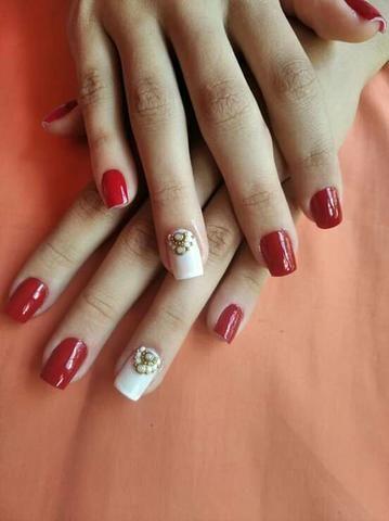 ALONGAMENTO de unhas manicurecure e pedicure adomecilio desaigne de sobrancelha - Foto 6