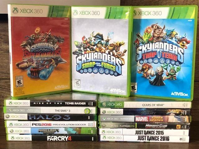 Xbox 360 - 250Gb - Kinect - 2 Controles - 15 Jogos Originais - Foto 5
