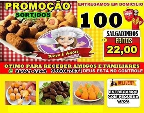 Salgadinhos de Festa $22 O Cento Frito