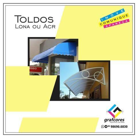 Fachada ACM e Lona / Letra Caixa / Totem / Toldos / Cartão de Visita / Sacola de Papel - Foto 6