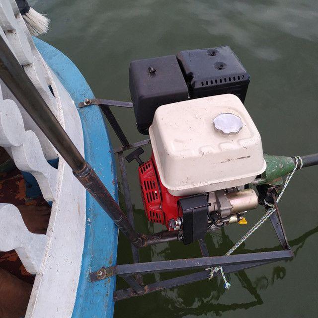 Motor 15hp Partida Elétrica Branco sem uso e rabeta