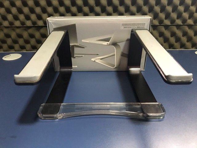 Suporte Para Macbook Pro E Air Em Alumínio - Curv Preto - Foto 2