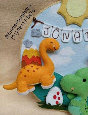Bastidor decorado Dinossauro  - Foto 5