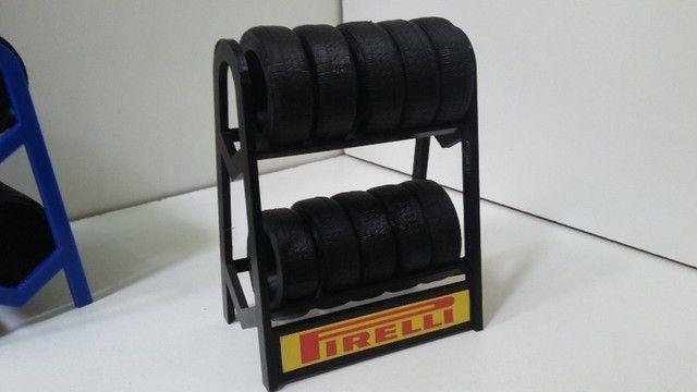 Miniatura Rack de Pneus 1:18 - Foto 4