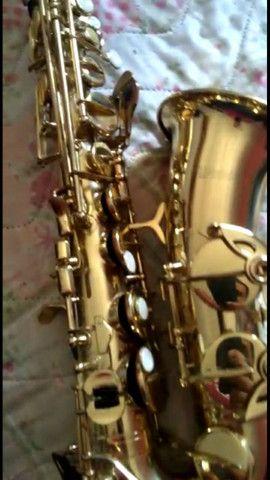 SAX saxofone Windsor revisado,  lindo impecável  - Foto 2