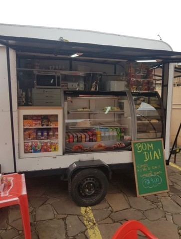 Trailer food truck para lanches