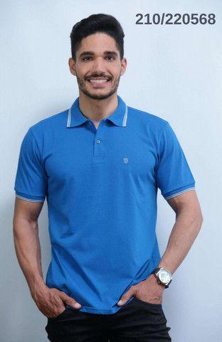 Kit 3 Camisas Pólo Meia Malha Sudotex C/ Frisos Tecido Macio Alta Qualidade Frete Grátis - Foto 3