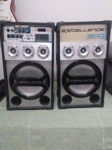 Par de Caixas de Som Amplificadas NKS Excellence PK3000 300W - Foto 2
