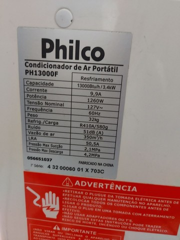 Ar condicionado Philco PH13000F R$ 1.100,00 - Foto 3