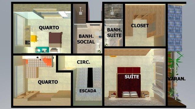 Casa para Venda em Volta Redonda, JARDIM SUÍÇA, 4 dormitórios, 1 suíte, 3 banheiros, 2 vag - Foto 3