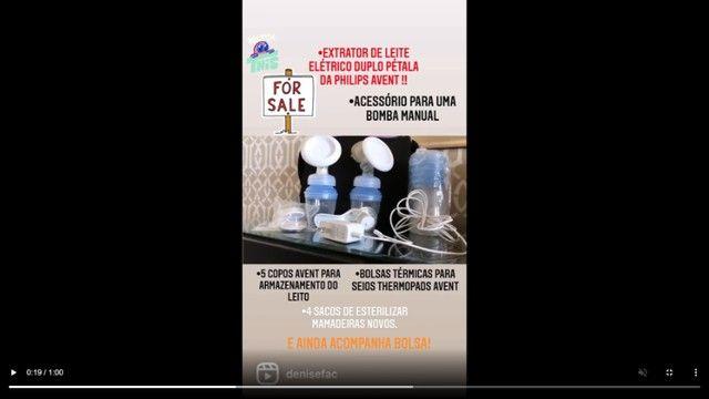 Extrator de leite materno avent duplo - Foto 2