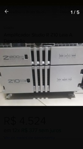 Amplificador de potencia studio R z 1200 impecave